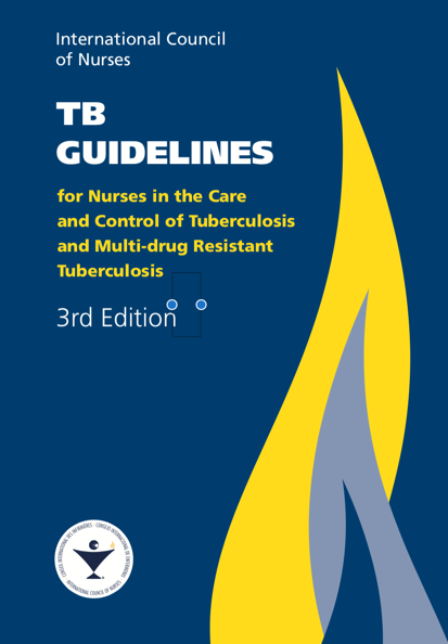Cover of TB GUIDELINES for Nurses in the Care and Control of Tuberculosis and Multi-drug Resistant Tuberculosis 3rd Edition