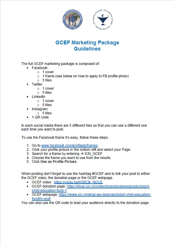 GCEF Marketing Package Guidelines