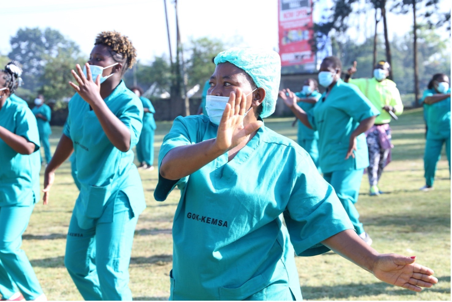 Kenya Zumba for healthcare workers